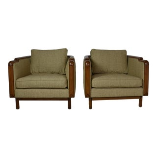1960s Mid-Century Club Chairs - a Pair For Sale