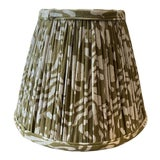 Image of Maison Maison Army Green Gathered Lampshade For Sale