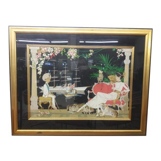 "Vintage Philippe Noyer ""Princess Victoria and the Young Maharaja"" Framed Lithograph For Sale"