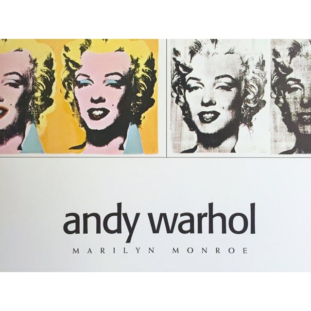 "Yellow Andy Warhol Rare Vintage 1995 Lithograph Print Poster ""Marilyn Diptych"" 1962 For Sale - Image 8 of 11"