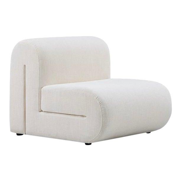 Vesta Alta Lounge Chair in White For Sale
