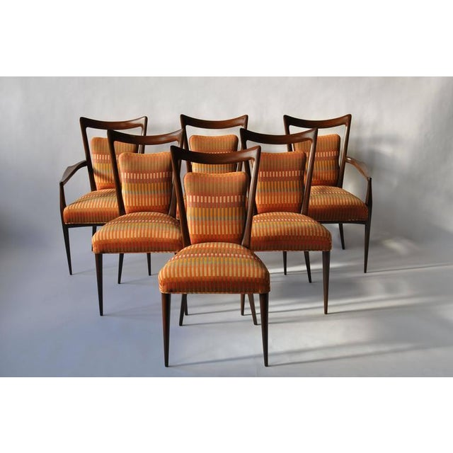 Set of Six Erno Fabry Dining Chair - Image 2 of 10