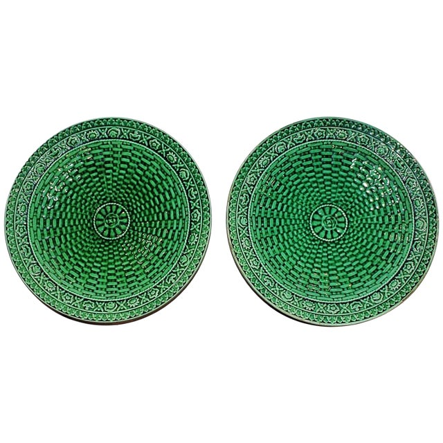 Majoilica Weave Plates - Pair - Image 1 of 7