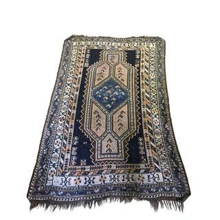 """1900's Tribal Qashqai Shiraz Rug 4'5""""by 7'"""