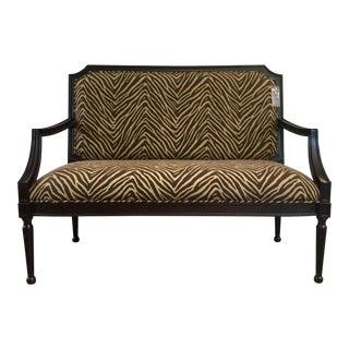 Modern Zebra Pattern Settee For Sale
