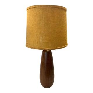 Mid Century Teak Wood Table Lamp