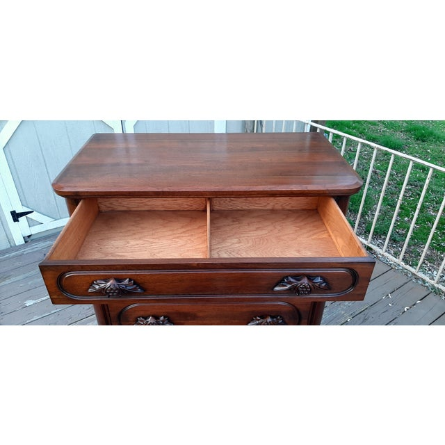 1948 Davis Cabinet Company Lillian Russell Black Walnut Chest of Drawers For Sale - Image 12 of 13