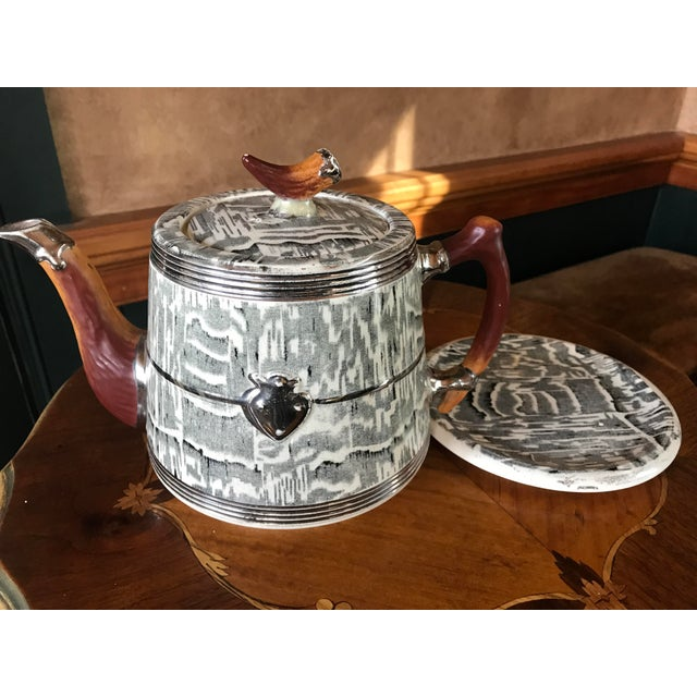 1930s Arthur Wood Silver Shield Teapot For Sale - Image 4 of 11