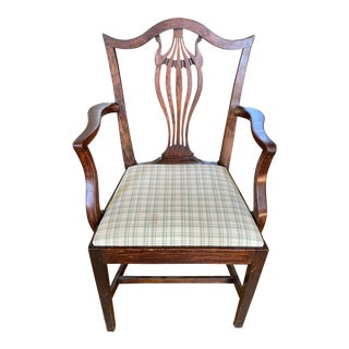 American Chippendale Faux-Grained Armchair For Sale