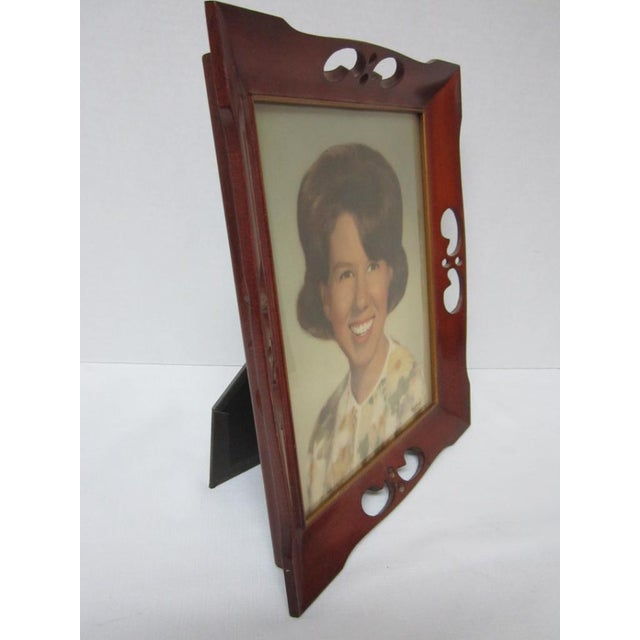 1950\'s Wood Picture Frame | Chairish