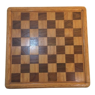 Hand Crafted Oak Chess Board For Sale