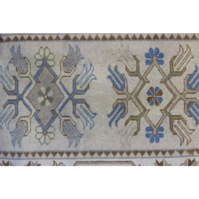 Turkish Oushak Runner - 2′7″ × 17′6″ - Image 3 of 9