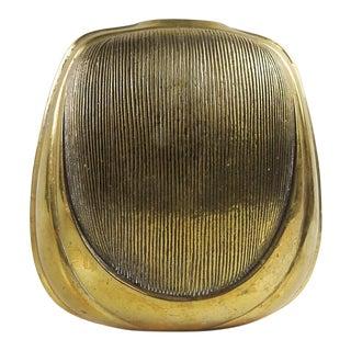 Mid Century Modern Brass Vase For Sale