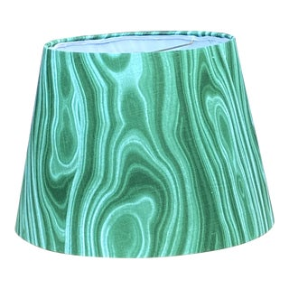 Contemporary Malachite Green Lampshade For Sale