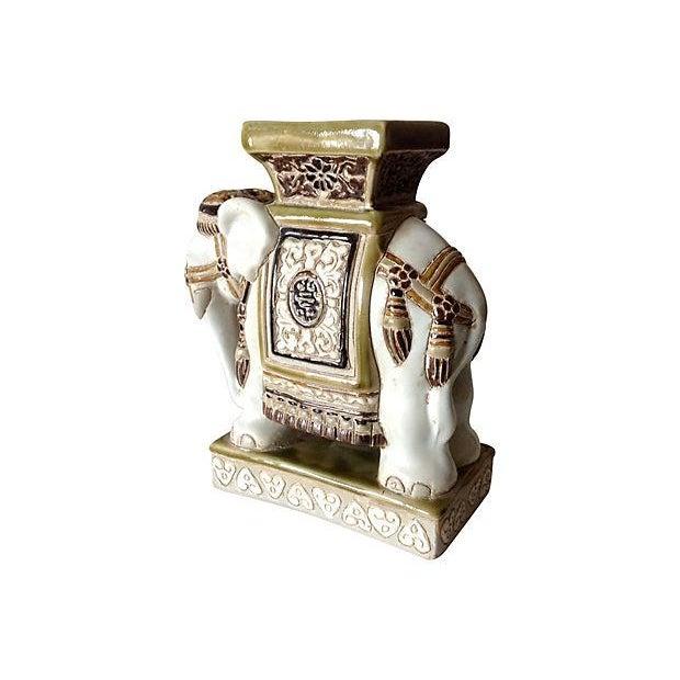 Porcelain Asian-Style Ceramic Elephant - Image 4 of 5