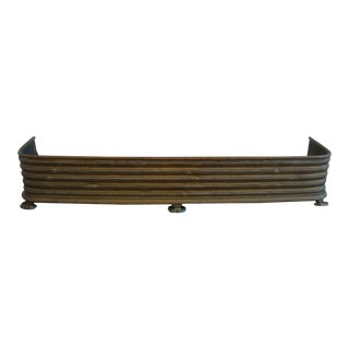 Early Arts & Crafts Brass Fireplace Fender Rail For Sale