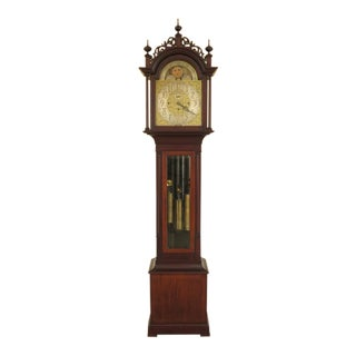 Elliott of London Antique Mahogany 5 Tube Grandfather Clock For Sale