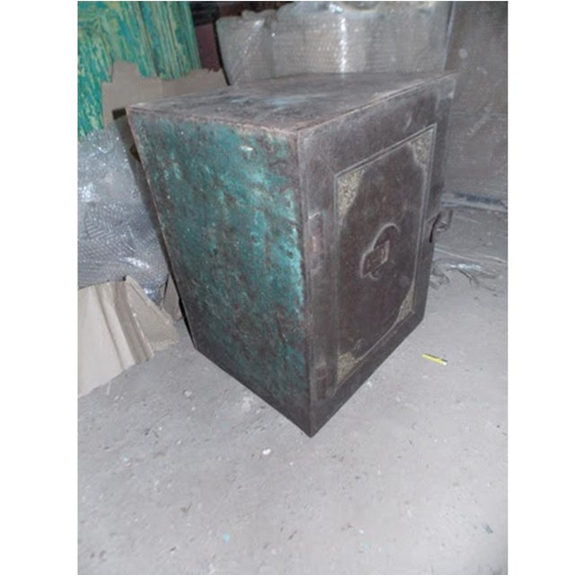 Antique Iron Safe From India - Image 2 of 5