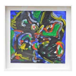 Small Abstract Painting by David Largman For Sale