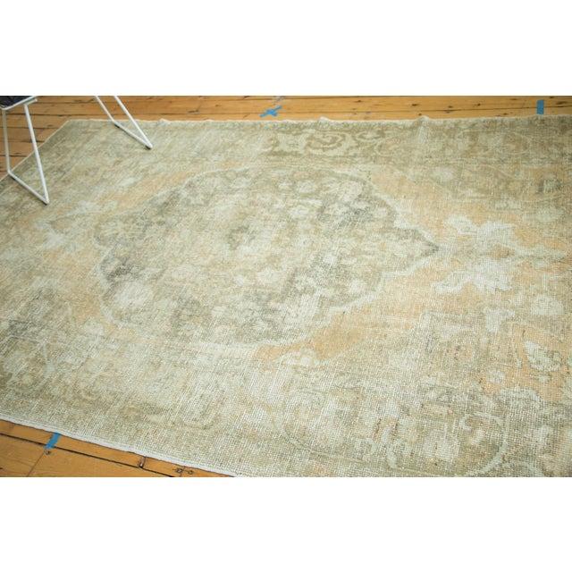 "Vintage Distressed Oushak Carpet - 5'8"" x 9'4"" - Image 7 of 10"