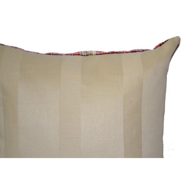 Scalamandré 100% Silk Velvet Rainbow Stripe Pillow For Sale - Image 5 of 10