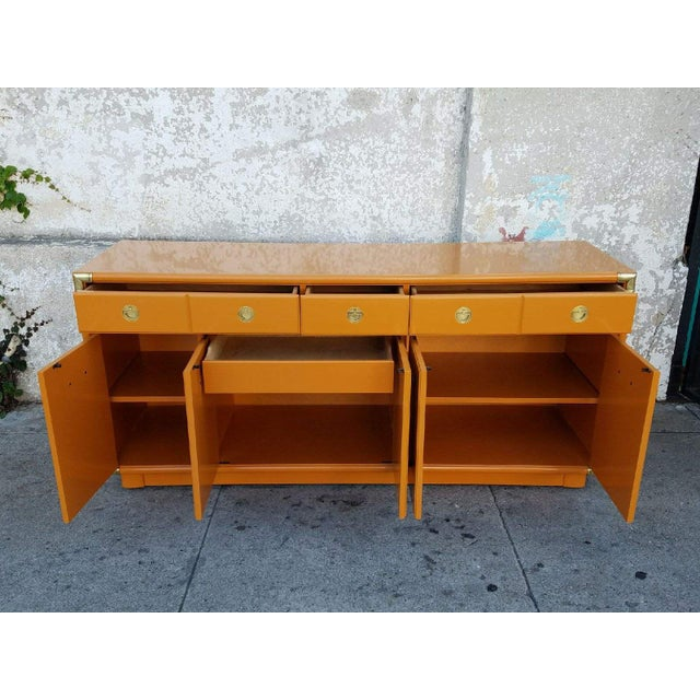 2010s Americana Drexel Almond Credenza Buffet For Sale - Image 5 of 6