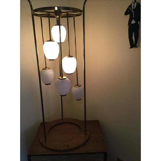 Mid-Century Modern Six Light Lamp - Image 3 of 9