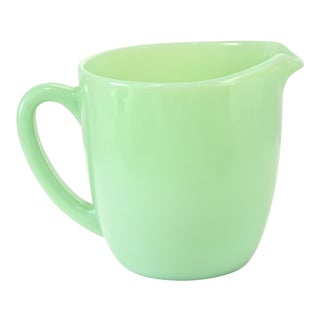 1940s Green Jadeite Glass Jug For Sale