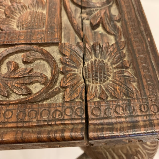 Anglo Indian Rosewood Elephant Accent Table For Sale In Richmond - Image 6 of 11