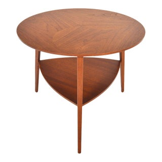Danish Modern Round Teak Side Table For Sale