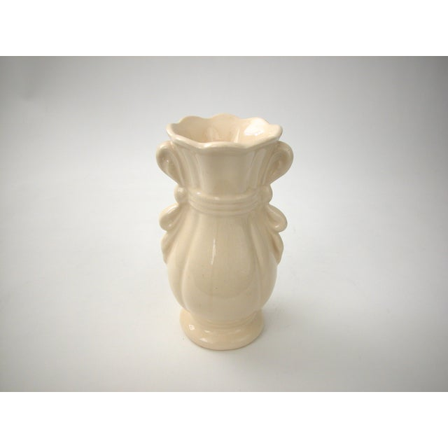 Cream Vase With Ribbon Handles For Sale - Image 9 of 9