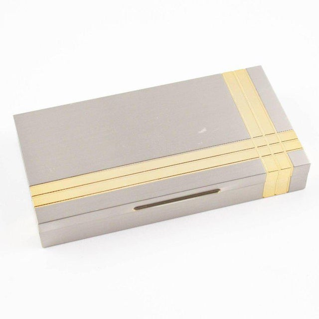 Italian Noel b.c. 1970s Modernist Metal Box and Contact Book Desk Set For Sale In Atlanta - Image 6 of 10