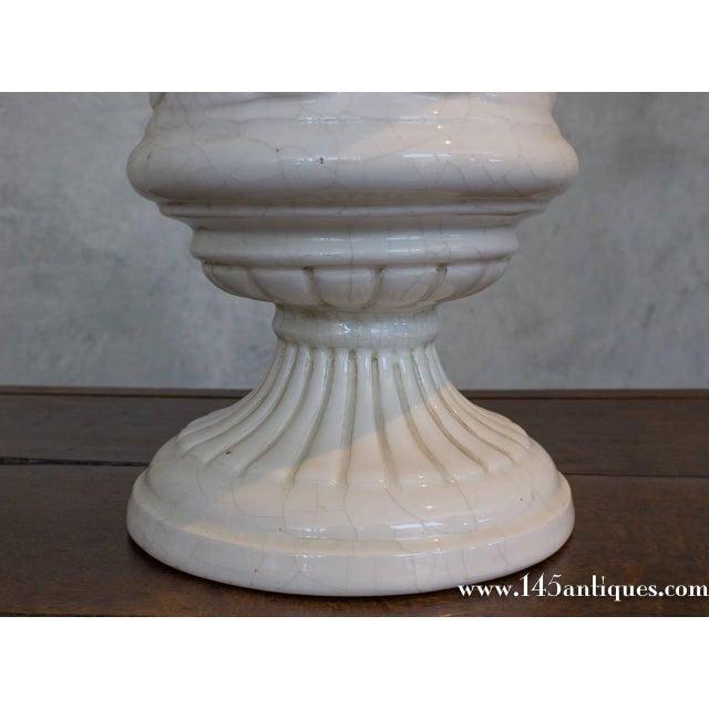 Large Spanish White Ceramic Centerpiece - Image 5 of 8