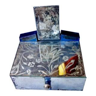 Art Deco Mirrored Vanity Box For Sale