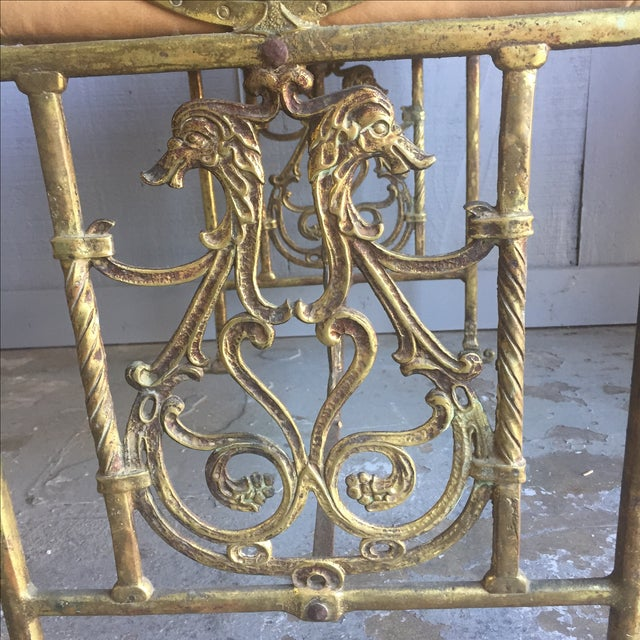 Oscar Bach Bronze and Iron Bench For Sale In Austin - Image 6 of 10