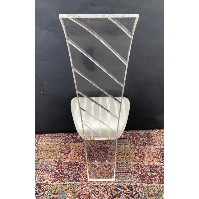 Lucite and Glass Dining Set - 7 Pieces For Sale - Image 9 of 10