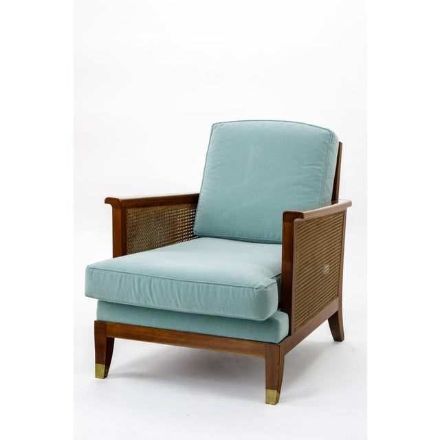 Maurice Jallot refined caned arm chair