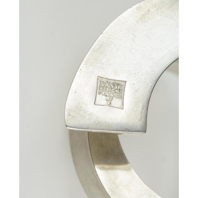1960s Minimalistic Dansk Silver Spiral Candle Holder For Sale - Image 9 of 11