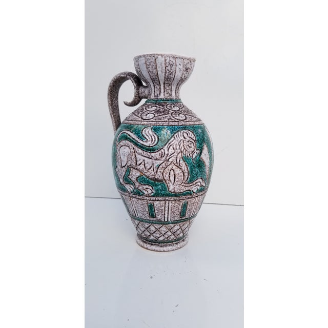 1970s Italian Hand Painting Studio Pottery Vase For Sale - Image 5 of 12
