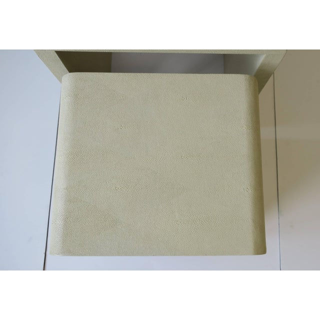 Shagreen-Esque Nesting Tables With Waterfall Edge For Sale - Image 11 of 12