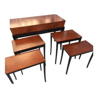 Sideboard With Nesting Tables- Set of 5 For Sale