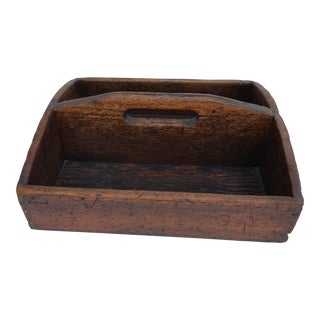 1900s Country Farm Utensil or Cutlery Caddy For Sale