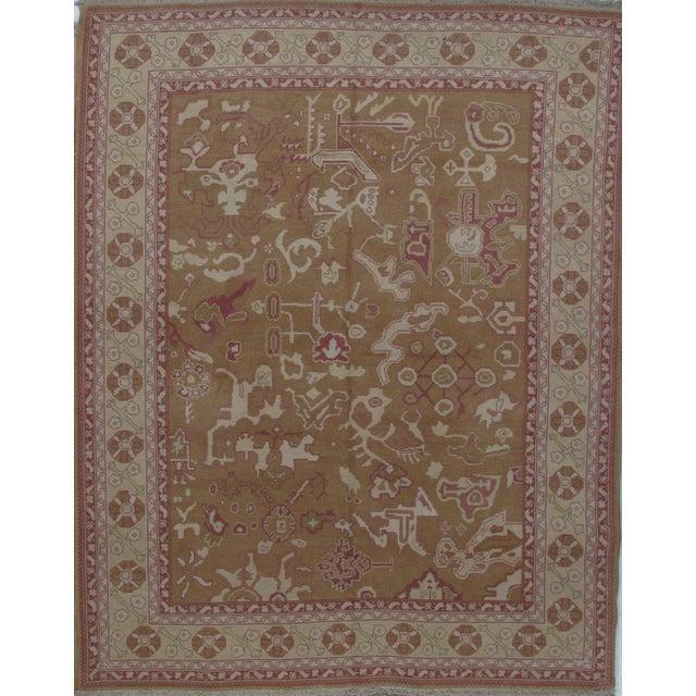 Turkish Oushak Design Hand Woven Wool Rug - 4' X 6' - Image 5 of 5