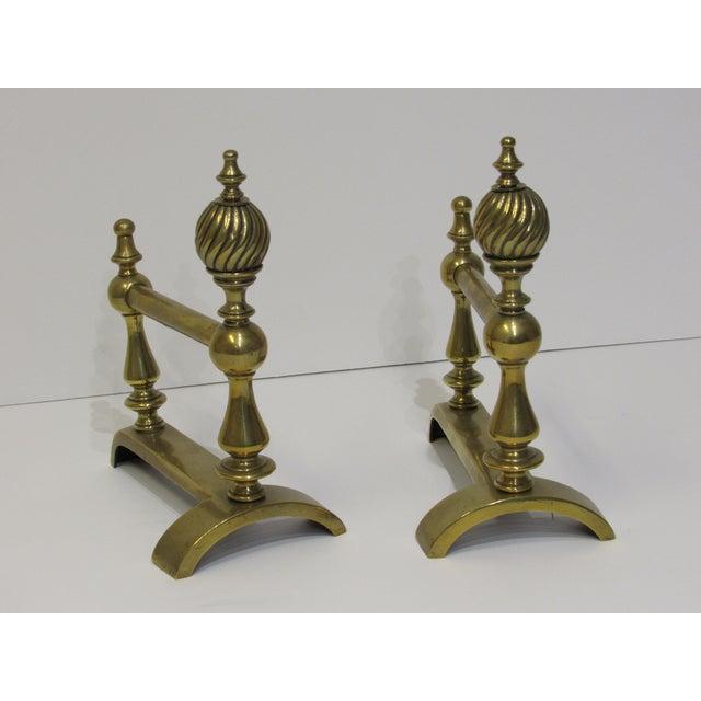 Gray Brass Lattice Fireplace Set For Sale - Image 8 of 11