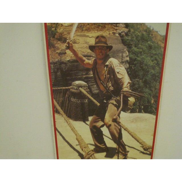 Contemporary Vintage Un-Cut Sheet of Gum Card Stickers - Indiana Jones and the Temple of Doom For Sale - Image 3 of 6