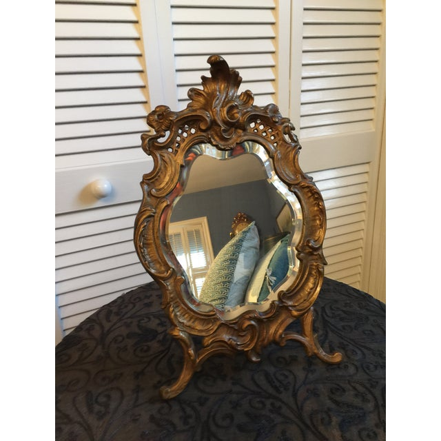 1800s Antique Louis XV Style French Vanity Mirror For Sale - Image 13 of 13