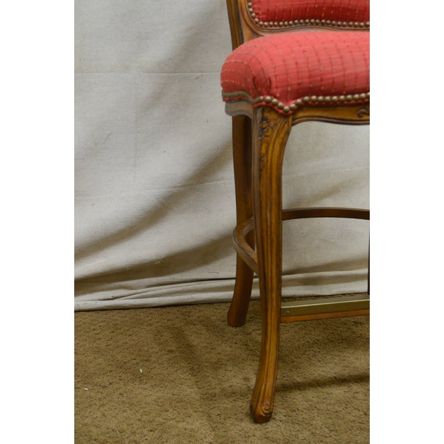 French Louis XV Style Set of 4 Bar Stools by Pama Furniture For Sale - Image 10 of 13