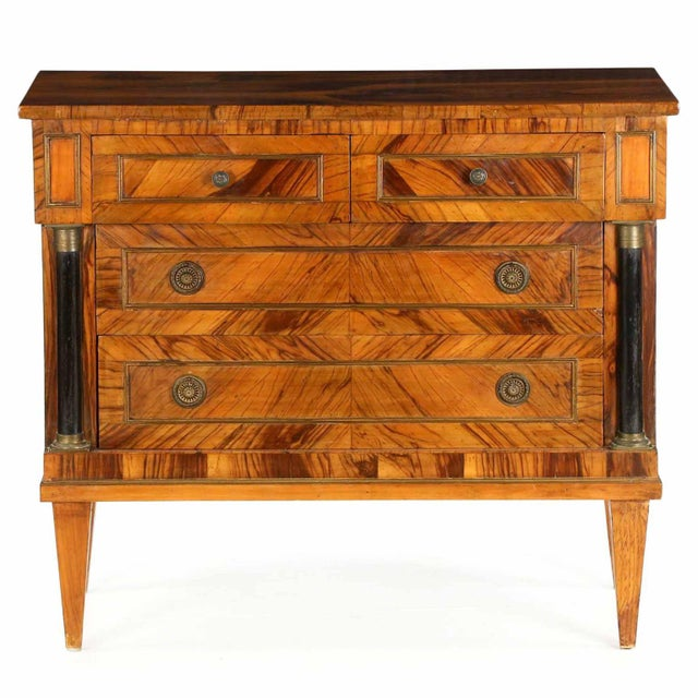 Early 20th Century Antique Empire Style Chests of Drawers - a Pair - Image 3 of 11