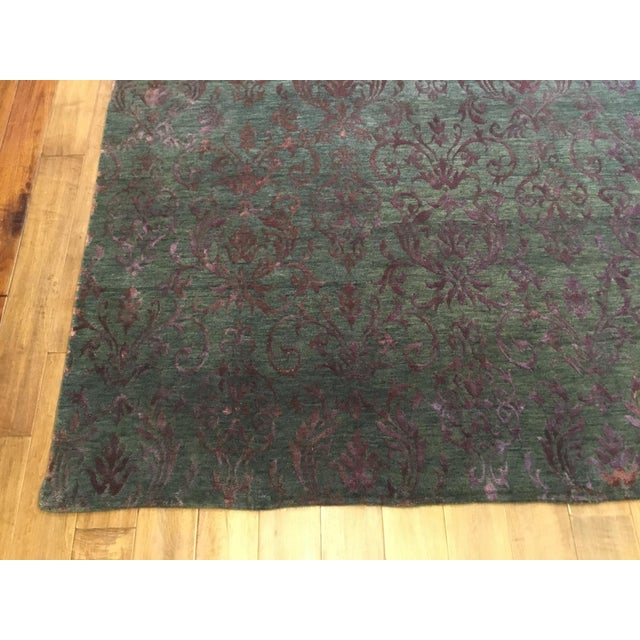 2010s Contemporary Blue and White Striped Rug - Jean Blue (8x10) For Sale - Image 5 of 7