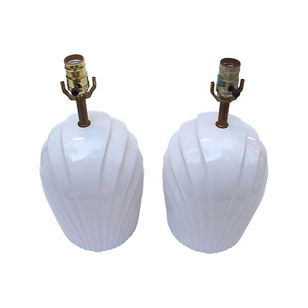 Bright White Ridge Lamps - A Pair - Image 2 of 5